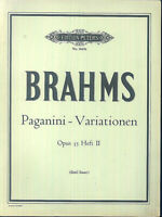 Brahms - Paganini - Variationen Op. 35 Heft 2 ( Emil Sauer )