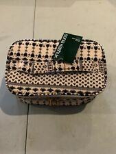 NWT Sonia Kashuk Triple Train Case Woodblock Cream Cosmetic Bags Travel