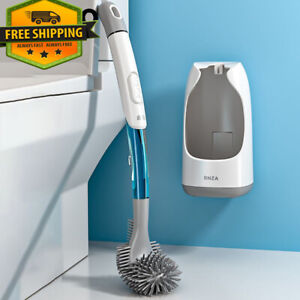 New Wall-Mounted Toilet Brush With Cleaning Tube And Holder Cleaning Brush Set