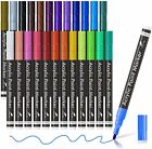 Acrylic Paint Markers, 24 Colors Lelix Permanent Acrylic Paint Pens for Rock, Gl