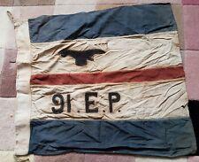 WW2  RAF 91 EP India Singapore  1943-48 Flag Pennant old worn original