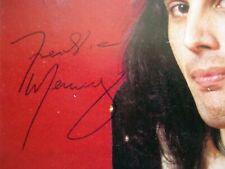 4 X Queen autographs - Freddie Mercury + Brian May + J. Deacon + R. Taylor + COA