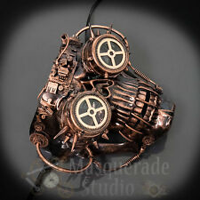 Mens Steampunk Cyborg Skeleton Burning Man 2017 Costume Masquerade Mask [Copper]