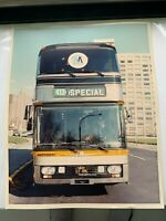 8X10 NY NYC SPECIAL DOUBLE DECKER SKYLINER NEOPLAN BUS COLOR VINTAGE PHOTOGRAPH
