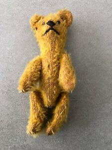 """Antique Miniature Mohair Jointed Honey Teddy Bear 6"""" Steiff?"""