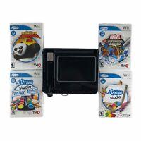 UDraw Black Tablet for Nintendo Wii w/4 Games Tested Works Marvel Superheroes