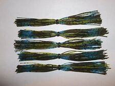 (5) FIVE SILICONE JIG AND SPINNER SKIRTS  ****** KENTUCKY BLUE GRASS *****
