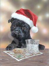 Hungarian Vizsla Dog Black Rim Glass Coaster Animal Breed Gift AD-V3GC