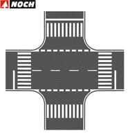 NOCH H0 60712 Kreuzung Asphalt, 22 x 22 cm (1 m² - 191,95 €) - NEU + OVP