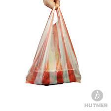 2.000 Stück 25+12x45 RotWeiss gestreift Knotentaschen Hemdchentaschen Polybeutel