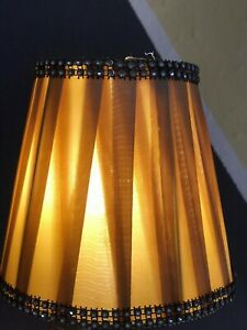 Small Lamp Shade Pleat Fabric Chandelier Ceiling Light Bulb Cover Retro Home