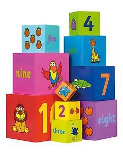 John Crane Toys Tidlo Wooden Stacking Rainbow Cubes