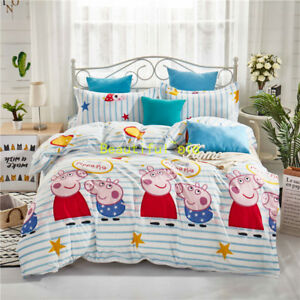 Peppa Pig New Single/Double/Queen/King Size Bed Quilt/Doona/Duvet Cover Set