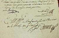 1792 manuscript document multiple FREEMASON SIGNATURE RARE ORIGINAL 2P ready to