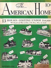 1936 American Home September-Houses in Glencoe IL, Salina KS, Cynwyd PA; Tenafly