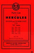 Hercules Jx Jxa Jxb Jxc Jxd Engine Unit Parts Manual