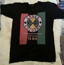 Vintage CROSS COLOURS T-shirt Adult SMALL S Tee Shirt Rare HTF 90's Rap Hip-Hop