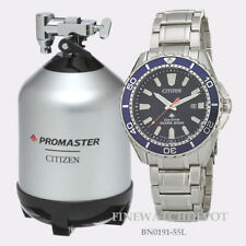 Authentic Citizen Eco-Drive Men's Promaster Diver Blue Dial Watch BN0191-55L