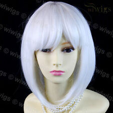 Wiwigs Silky Short Bob Snow White Ladies Wig Skin Top