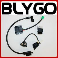 Coil + CDI UNIT + Regulator + Solenoid 150cc 250cc PIT Quad Dirt Bike ATV Buggy