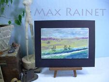 Listed Artist = C PETERSON = ORIGINAL OIL PAINTING = A Seascape w Beach Goers