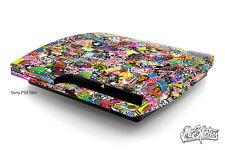 Sony PS3 Slim Skin Sticker Kit Sticker Bomb v1