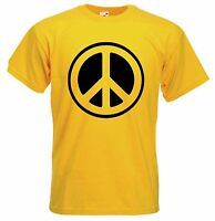 CND SYMBOL TSHIRT - Peace Political Anti-Nuclear Hippy - Choice Of Colours