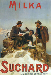 Milka Suchard on the Mountain Top   Poster Print
