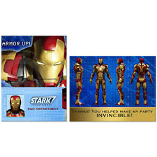 Iron Man 3 Birthday Party Supplies Invitations & Thank You Cards