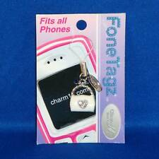 Fone Tagz - Cell Phone Charm - White Purse with Heart  - NEW