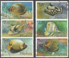 Timbres Poissons Philippines 1076/81 o lot 1258