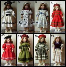 robe poupée ancienne allemande Jumeau SFBJ Kestner Halbig dress antique doll