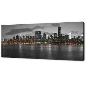 MANHATTAN NEW YORK PANORAMIC CANVAS PRINT PICTURE WALL ART VARIETY OF SIZES