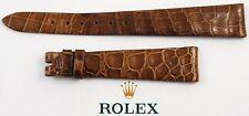 ROLEX Krokodil-Leder-Armband 15/10 mm - ungetragen - Versand nur EU-1980er Jahre