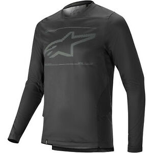 Alpinestars 2021 Adult Drop 6.0 Long Sleeve Bicycle Jersey Black All Sizes