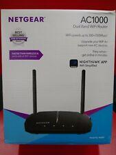 Netgear- AC1000 Dual-Band Wi-Fi 5 Router - Black