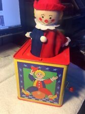 """Vintage? S.A. Inc. Jack-In-The-Box Boy Clown 5 1/2"""" Music Box Pop-Up Toy PA-8097"""