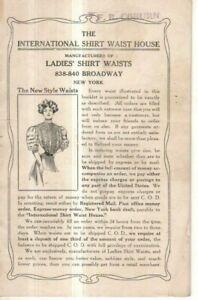 1890 Shirt Waist catalog Very Rare