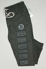 Boston Bruins NHL Men Concepts Sport  French Terry Charcoal Cuffed Pants: L-2XL