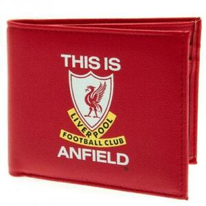 Official Liverpool FC Club Crest Wallet BiFold This Is Anfield LFC Birthday Gift