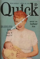 LUCILLE BALL AND DESI JR - QUICK NEWS WEEKLY - APRIL 13, 1953