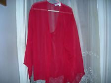 NEW 2X 3X Amoureuse Woman SHEER CHIFFON RED SHORT ROBE SEXY  26W 28W