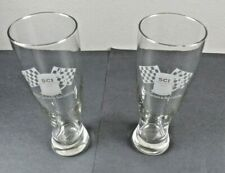 """2003 SCI Indianapolis Stein Collecting Pilsner Beer Glasses 8 1/2"""" Tall Set of 2"""