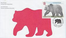 Canada stamps FDC 1997 $8 Grizzly Bear CA123925