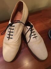 Peal & Co.Brooks Brothers Cream / White Suede Shoes England.Vintage FasT Ship🚢