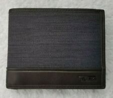 Tumi Men's FXT SLG Global Coin Wallet/ Cardholder - Charcoal/Brown Trim ~ NWT!