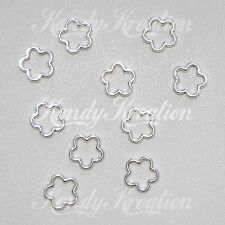 10 Flower Shaped frame bead 15mm charm for jewelry making craft earring necklace