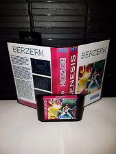 Berzerk - Multi-directional Shooter Video Game for Sega Genesis! Cart & Box