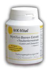 120 Kapseln a 12,5mg Anthocyane + 50mg Polyphenole + 1mg Lutein + 1mg Zeaxanthin