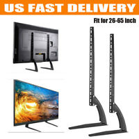 2X Universal Tabletop TV Stand Pedestal Mounts Monitor Riser LCD LED Flat Screen